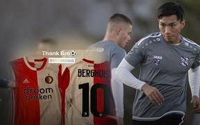 """Không thi đấu một phút nào trong thất bại của SC Heerenveen, Văn Hậu vẫn nhận được """"quà Valentine"""" đặc biệt từ tuyển thủ Quốc gia Hà Lan"""