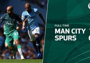 Highlights Manchester City 1-0 Tottenham   Man xanh vững bước trong cuộc đua vô địch