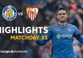 Highlights Getafe gây sốc với chiến thắng 3-0 trước Sevilla để giành quyền vào top 4