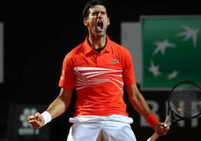 Highlights: Djokovic 2-1 Schwartzman | Bán kết Rome Masters 2019