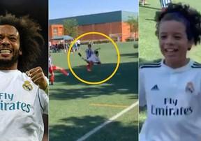 Con trai Marcelo ghi bàn đẹp mắt trong màu áo U10 Real Madrid