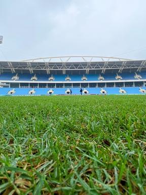 Toàn cảnh sân Mỹ Đình sau cải tạo: Mặt cỏ xanh tốt, hệ thống phòng chức năng đi vào hoàn thiện