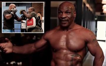 """""""Tay đấm thép"""" Mike Tyson khoe ảnh cơ bắp cuồn cuộn, đập tan tin đồn """"hết hơi"""" trước trận đại chiến với Roy Jones"""