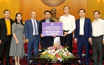 VFF cùng HLV Park Hang-seo ủng hộ miền Trung hơn 300 triệu đồng