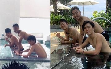 """Phí Minh Long khoe ảnh """"dậy thì thành công"""" cùng hội Xuân Trường, Tuấn Anh, Văn Thanh"""