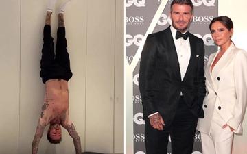 David Beckham vẫn giữ được body cực chuẩn dù đã bước qua tuổi 45, cởi áo tập luyện sương sương mà khiến bà xã Victoria không kiềm chế nổi