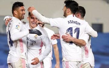 Real duy trì mạch trận thắng và tiếp tục bám đuổi ngôi đầu bảng