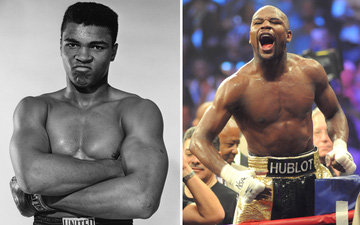 Floyd Mayweather được đánh giá là tay đấm quyền Anh vĩ đại nhất lịch sử, Muhammad Ali chỉ đứng thứ 4 còn Mike Tyson bị văng ra khỏi Top 10