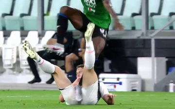 Trung vệ hotboy của Juventus kêu gào thảm thiết sau khi dính chấn thương nguy hiểm ở vùng nhạy cảm