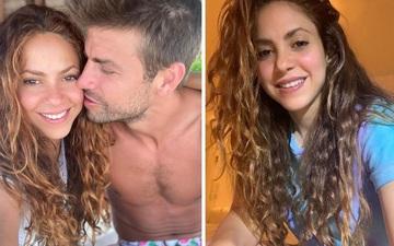 """""""Nữ hoàng nhạc Latin"""" Shakira đăng hình cực tình cảm cùng trung vệ Pique"""