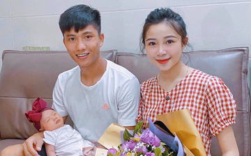 """Phan Văn Đức hứa cố gắng kiếm tiền để mua sữa cho con, Nhật Linh liền đáp hài hước: """"Em bé uống sữa mẹ mà, bố mua quà cho mẹ hợp lý hơn"""