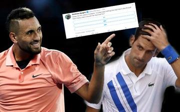 """Thừa cơ tay vợt số 1 thế giới gặp nạn, """"Bad boy"""" Nick Kyrgios lại bày trò cà khịa đàn anh"""