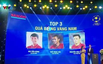 BTC lễ trao giải Quả bóng vàng 2020 nhầm lẫn nghiêm trọng: Văn Quyết thuộc CLB Viettel, Bùi Tiến Dũng thành người của CLB Hà Nội