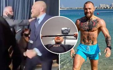 McGregor trở lại tập luyện chỉ một ngày sau khi phải chống nạng rời sự kiện UFC 257