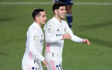 """""""Song sát"""" Lucas - Asensio tỏa sáng, Real lên ngôi đầu bảng"""
