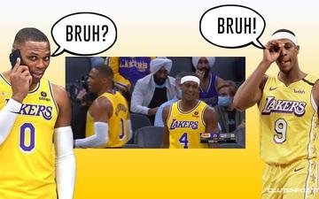 """Russell Westbrook và Rajon Rondo """"xí xóa"""" mối thù cũ, quyết tâm giành chức vô địch trong màu áo Los Angeles Lakers"""