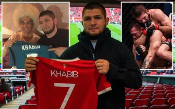 Khabib đến sân xem Man United thi đấu, dọa kẹp cổ bất kỳ ai tranh xin áo đấu của Ronaldo
