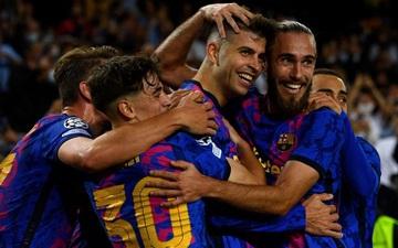Barca thắng trận đầu tiên tại Champions League 2021/22 nhờ khoảnh khắc lóe sáng của Pique