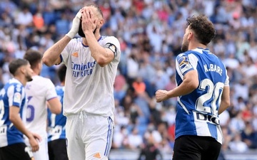 Thua sốc trước Espanyol, Real Madrid nối dài chuỗi trận thất vọng