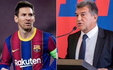 """Chủ tịch Laporta: """"Tôi từng hy vọng Messi đá miễn phí cho Barca"""""""