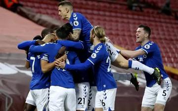 Cầu thủ Everton ăn mừng như thể vô địch sau chiến thắng Liverpool