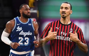 """""""Đấng"""" Zlatan Ibrahimovic bất ngờ cà khịa """"Nhà Vua"""" NBA"""