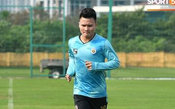 Quang Hải lủi thủi tập riêng, Hà Nội FC giữ tinh thần lạc quan trước trận gặp Hải Phòng