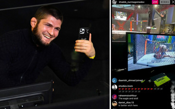 Hậu tuyên bố chính thức giải nghệ, Khabib hóa streamer khi tới xem sự kiện của UFC