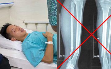 Thực hư ảnh chụp X-quang gãy chân của Hùng Dũng, HLV Park Hang-seo không đập vỡ điện thoại trong bệnh viện