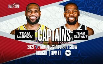"""Hoàn tất đội hình All Star 2021: LeBron James lập đội hình """"siêu bá đạo"""", Kevin Durant không kém cạnh với những hảo thủ hàng đầu miền Đông"""