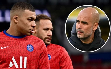 "Bán kết Champions League: Guardiola mất ngủ tìm cách ""khóa"" cặp siêu sao Neymar - Mbappe"