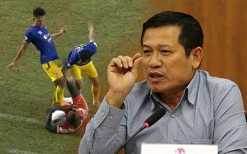 """Trưởng Ban trọng tài Dương Văn Hiền: """"Pha bóng của Việt Anh là phản cảm, không thể chấp nhận"""""""