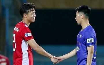 Quế Ngọc Hải an ủi Đình Trọng khi Viettel lần đầu khiến Hà Nội FC ôm hận