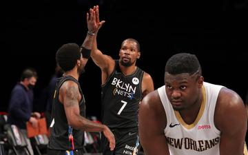"""Nets """"hủy diệt"""" Pelicans trong ngày Kevin Durant trở lại chặn đứng kỳ tích của Zion Williamson"""