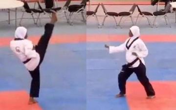 Nữ VĐV mang bầu 8 tháng thi đấu xuất sắc, giành được HCV Taekwondo