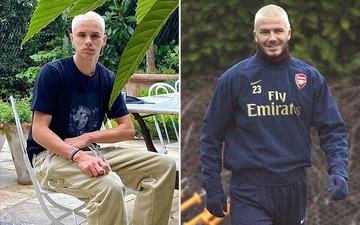 Cậu hai nhà Beckham lột xác với mái tóc bạch kim, fan trầm trồ khi so sánh với hình ảnh thời trẻ của ông bố David