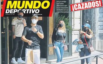 """Gạt bỏ nỗi thất vọng, Messi và bà xã """"trốn"""" đến Madrid hẹn hò bạn thân"""