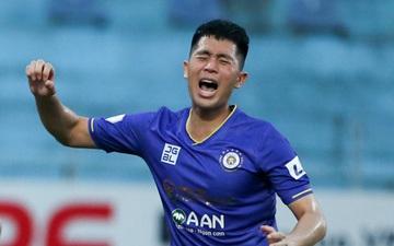 Đình Trọng gào thét tiếc nuối khi Hà Nội FC để tuột bàn thắng trong tíc tắc