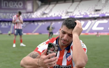 Cầu thủ Atletico và Valladolid cùng khóc sau tiếng còi mãn cuộc