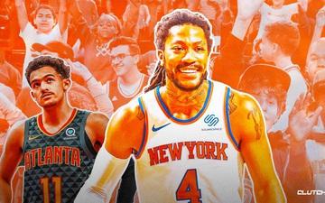 Màn trình diễn đẳng cấp của Derrick Rose giúp New York Knicks quân bình tỷ số với Atlanta Hawks