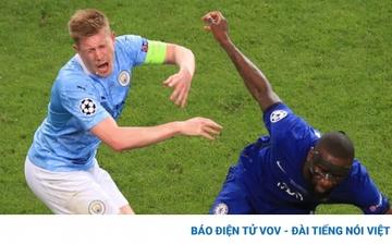 Rudiger xin lỗi vì khiến De Bruyne gãy mũi ở chung kết Champions League