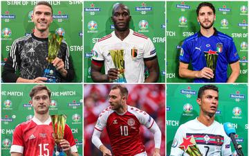 """Serie A bị chê bai là""""giải đấu nhàm chán"""", nhưng lại có tới 9 lượt giành danh hiệu Cầu thủ xuất sắc nhất trận tại Euro 2020"""