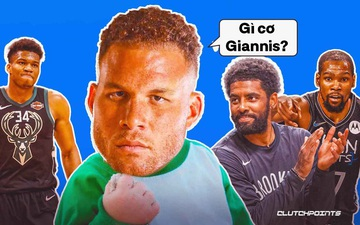 """Blake Griffin """"chiếm sóng"""" Game 2 với pha poster dunk sấm sét trước mặt Giannis Antetokounmpo"""