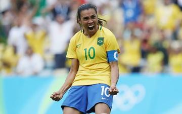 Hủy diệt tuyển Trung Quốc 5 bàn không gỡ, 2 nữ huyền thoại bóng đá Brazil lập kỷ lục Olympic