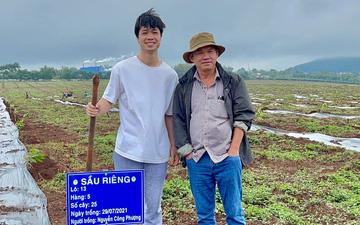 Cầu thủ HAGL làm nông dân cùng bầu Đức đi trồng sầu riêng