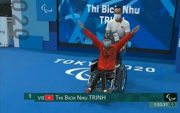 Đỗ Thanh Hải kém kỷ lục thế giới gần 11 giây, Trịnh Thị Bích Như về thứ 8 trong lượt chung kết 100m bơi ếch Paralympic 2020