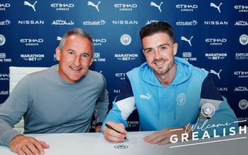 CHÍNH THỨC: Grealish gia nhập Manchester City