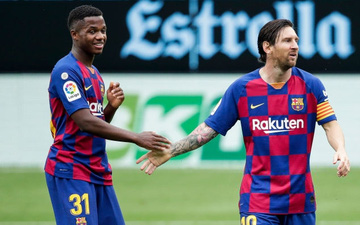 Vì sao Barca trao áo số 10 của Messi cho Ansu Fati?