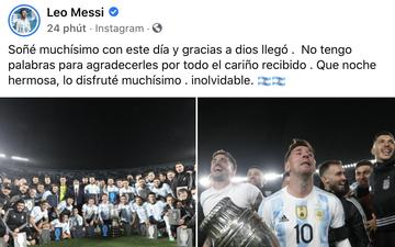 Messi lên tiếng sau khi vượt thành tích ghi bàn của Pele