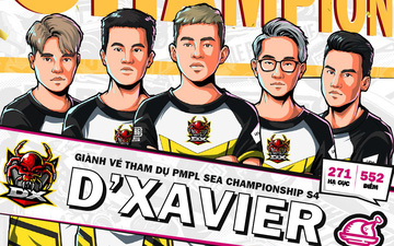 D'Xavier trở thành đại diện Việt Nam đầu tiên dự giải PUBG Mobile SEA